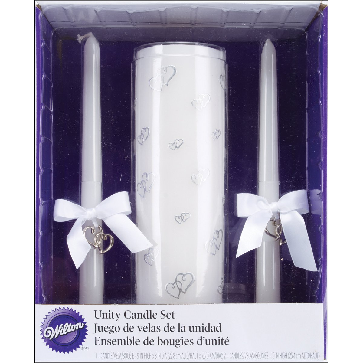 Wilton 120-464 Sweetheart Unity Candle Set