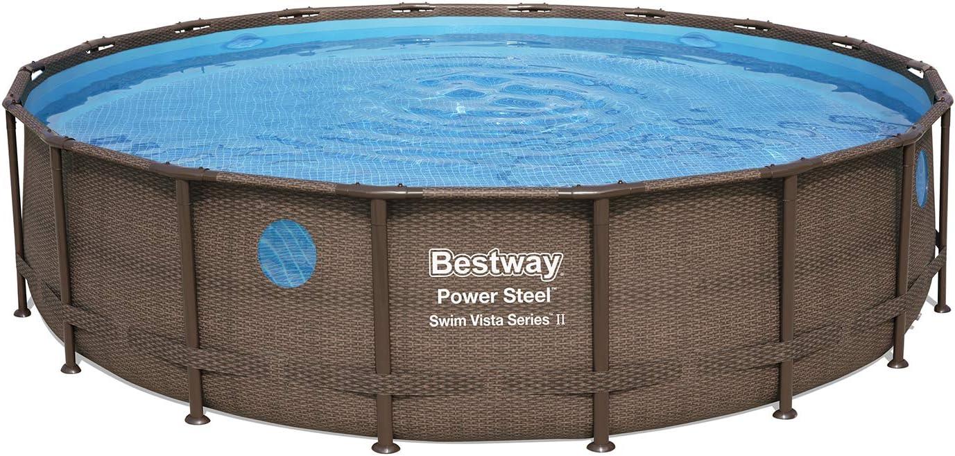 Bestway 56977 - Piscina Desmontable Tubular Power Steel Swim Vista ...