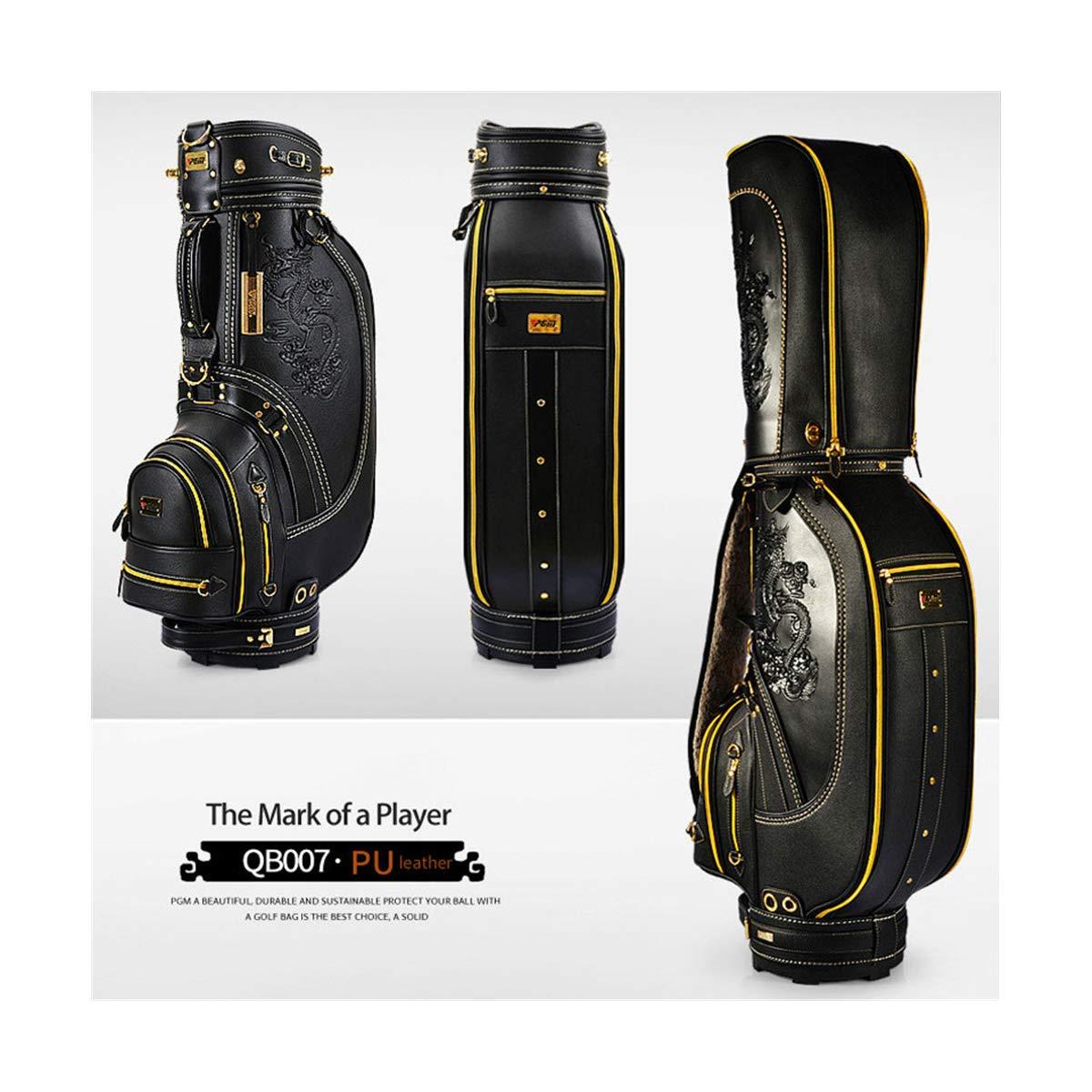 Pgmゴルフスタンダードバッグクラブパッケージドラゴンキャディバッグ男性プロフェッショナルレザー防水ビッグカートバッグゴルフ用品 Black Black B07P9RKX9P, ひな福かぐ福:3bc37f66 --- lagunaspadxb.com