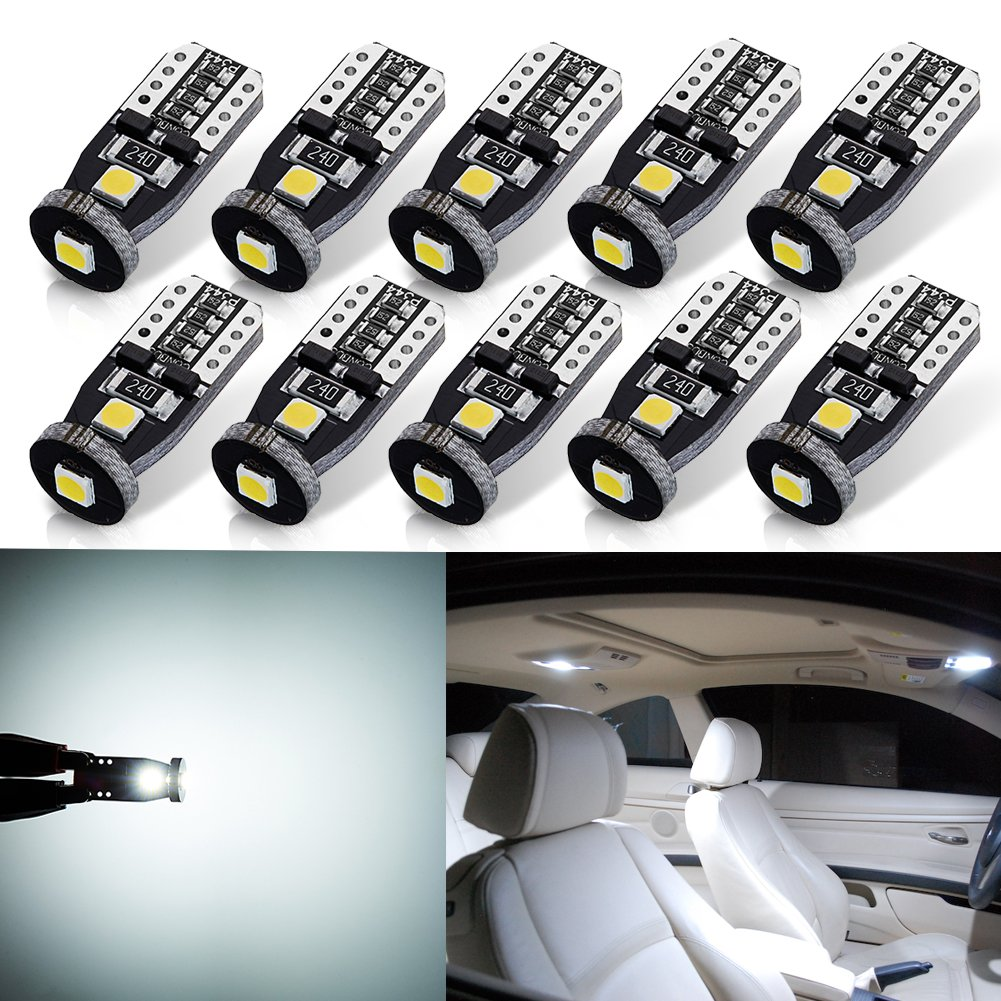 AUTOGINE 4pcs CAN-Bus Error Free DE3175 DE3021 DE3022 3175 6428 LED Bulbs Festoon 31MM 1.25' Xenon White 3014 18-EX Chipsets for Car Interior Dome Map Door Courtesy License Plate Lights