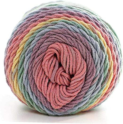 Onsinic suave natural seda de la leche del hilo de algodón grueso hilo de tejer amante tejer bufandas de lana ganchillo del hilado de la armadura de hilo suéter de bricolaje: Amazon.es: