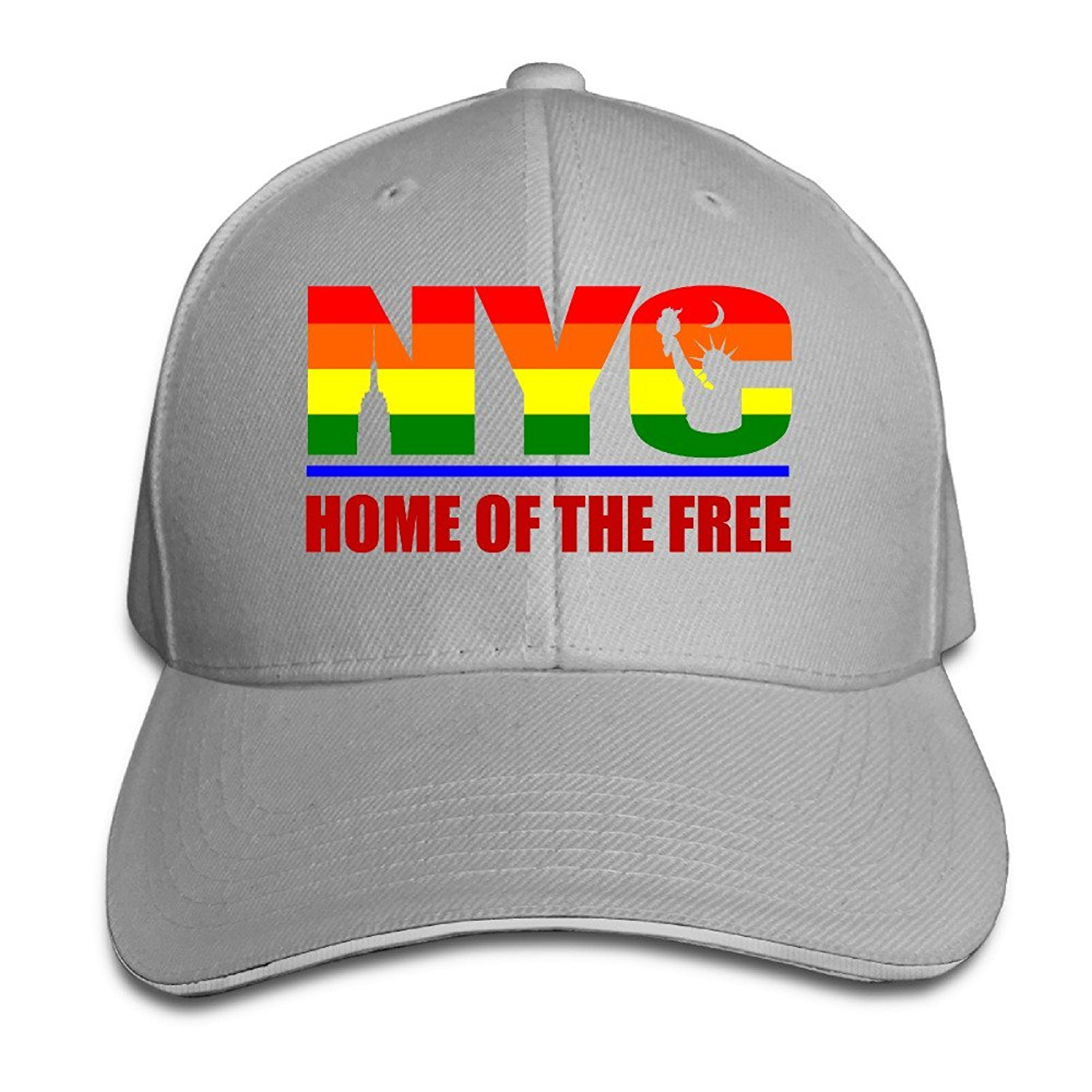 fed9c94c8f3 Unisex New York Home Of The Free Adjustable Snapback Trucker Hat Ash One  Size Apparel