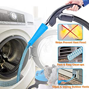 BoxLegend Dryer Vent Cleaner Kit Dryer Vent Vacuum Attachment Lint Remover Power Washer
