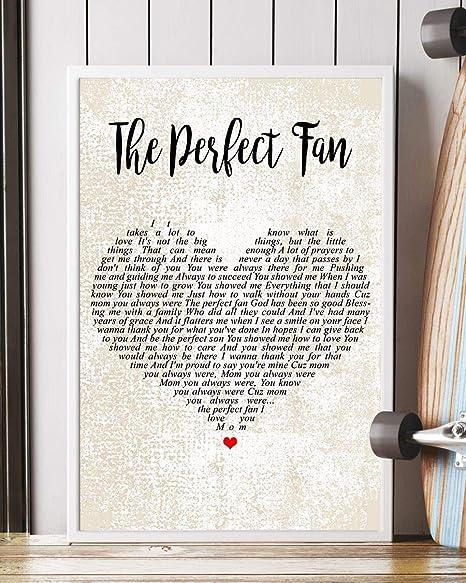 Amazon com: The Perfect Fan Song Lyrics Decor Portrait