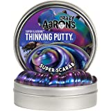 Crazy Aaron's Thinking Putty - Super Illusions: Super Scarab - Fidget Toy - Shifting Purple Color - Never Dries Out - 4 Inch