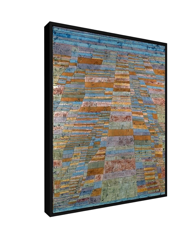 Paul Klee - Hauptwege und Nebenwege - 1929-60x75 cm - Leinwandbild mit Schattenfugenrahmen - Wand-Bild - Kunst, Gemälde, Foto, Bild auf Leinwand mit Rahmen - Alte Meister Museum