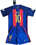 FC Barcelona 2016-2017 Messi #10 Youths Home Soccer Jersey Shirt & Shorts Set