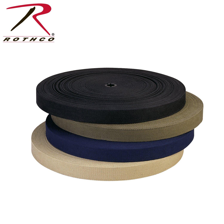 Rothco Cotton Belt Webbing, 1-1/4'' x 50 yd, Black