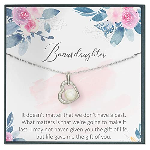Amazon.com: Grace of Pearl Step Daughter Necklace for Bonus ...