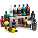 MEEDEN Acrylic Paint Set, 15 Vibrant Colors, (500ML/16.9 oz) Non-Toxic for Canvas, Fabric, Crafts, and More for Artists, Begi