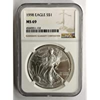 1998 American Silver Eagle $1 MS69 NGC