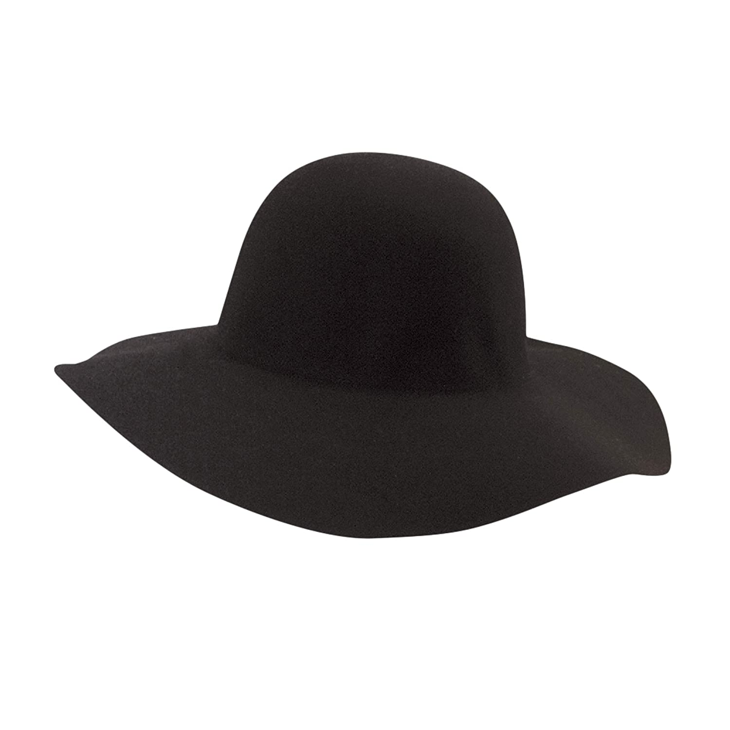 09dcbb0324af17 SCALA Women's Big Brim Wool Felt Floppy Hat (Black) at Amazon Women's  Clothing store:
