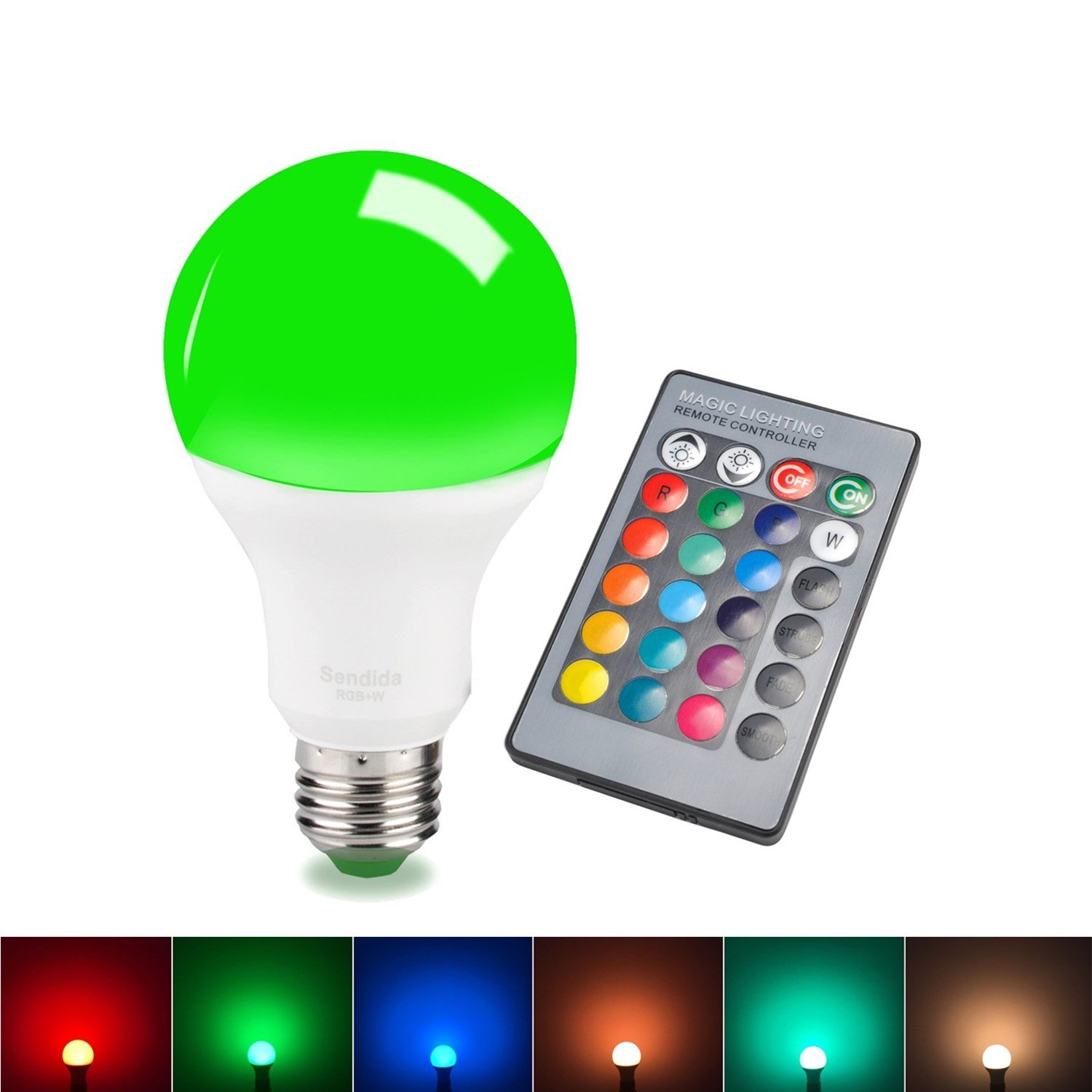 Elegant Sdida LED RGB Bulb E27 Equivalent To 15W, Remote Control, Color Changing  And Dimmable Light Bulb     Amazon.com Design Ideas