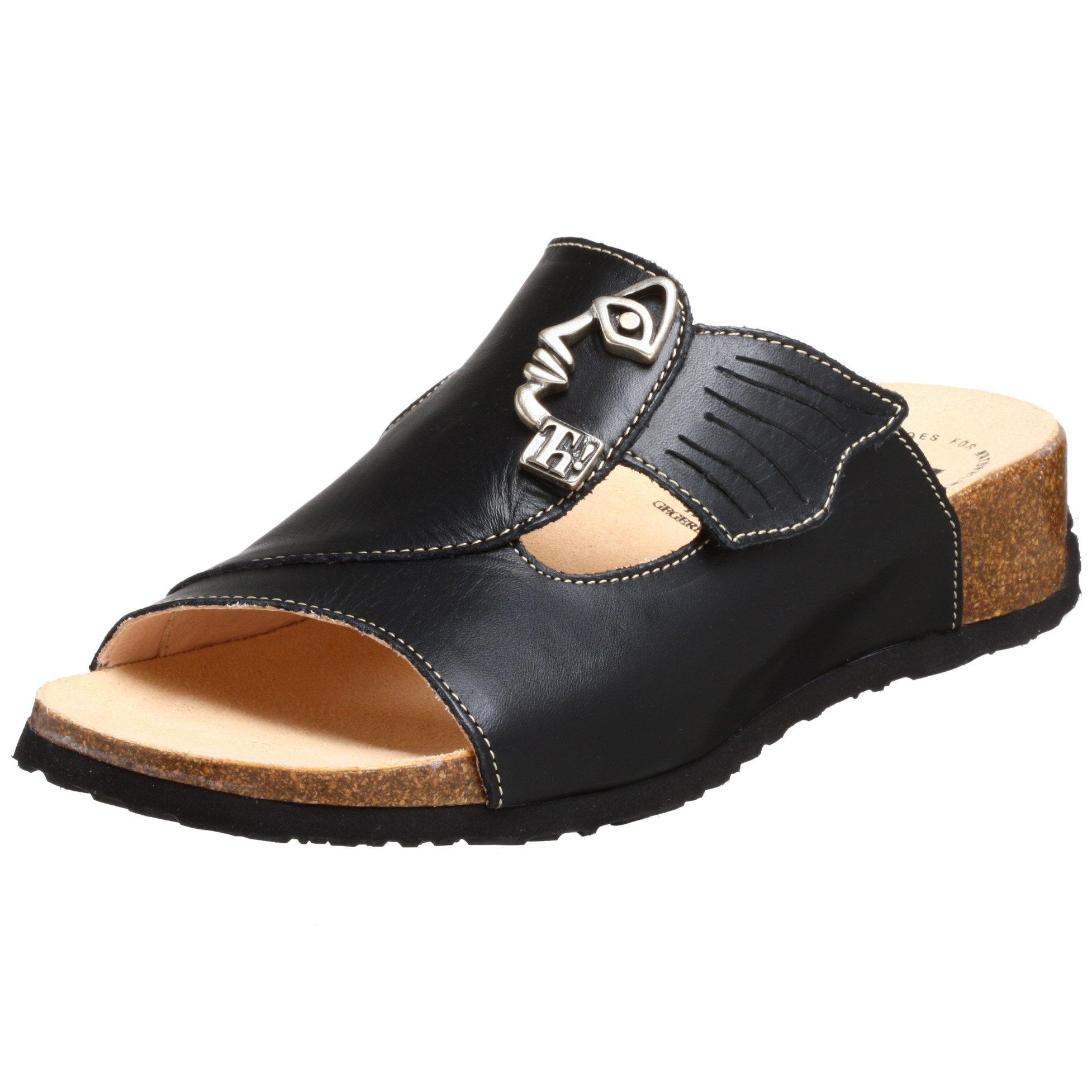Think! Women's Mizzi 34411 Sandal,Black Nappa Veg,38 EU (US Women's 7 M)
