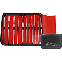 Dental Scaler Kit - Tartar Calculus Plaque Remover Set - Stainless Steel - Tooth Scraper - Dental Prob - Dentist Mouth Mirror Premium Quality Tools (11)