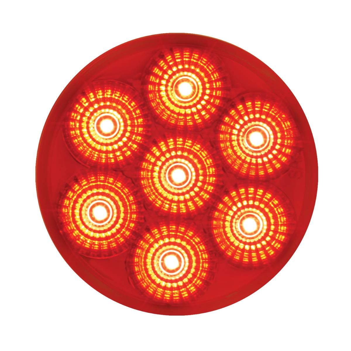 GG Grand General 76667 Light 2.5 Low Profile Spyder Red 7 LED Dual//3Wires