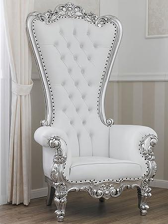 Simone Guarracino Poltrona trono stile Barocco Moderno foglia ...