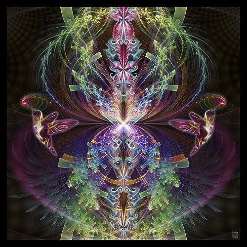 Visionary Art Wall Hanging Psy Psychedelic Art I See You Mandala Tapestry Shamanic Art Spiritual Shaman