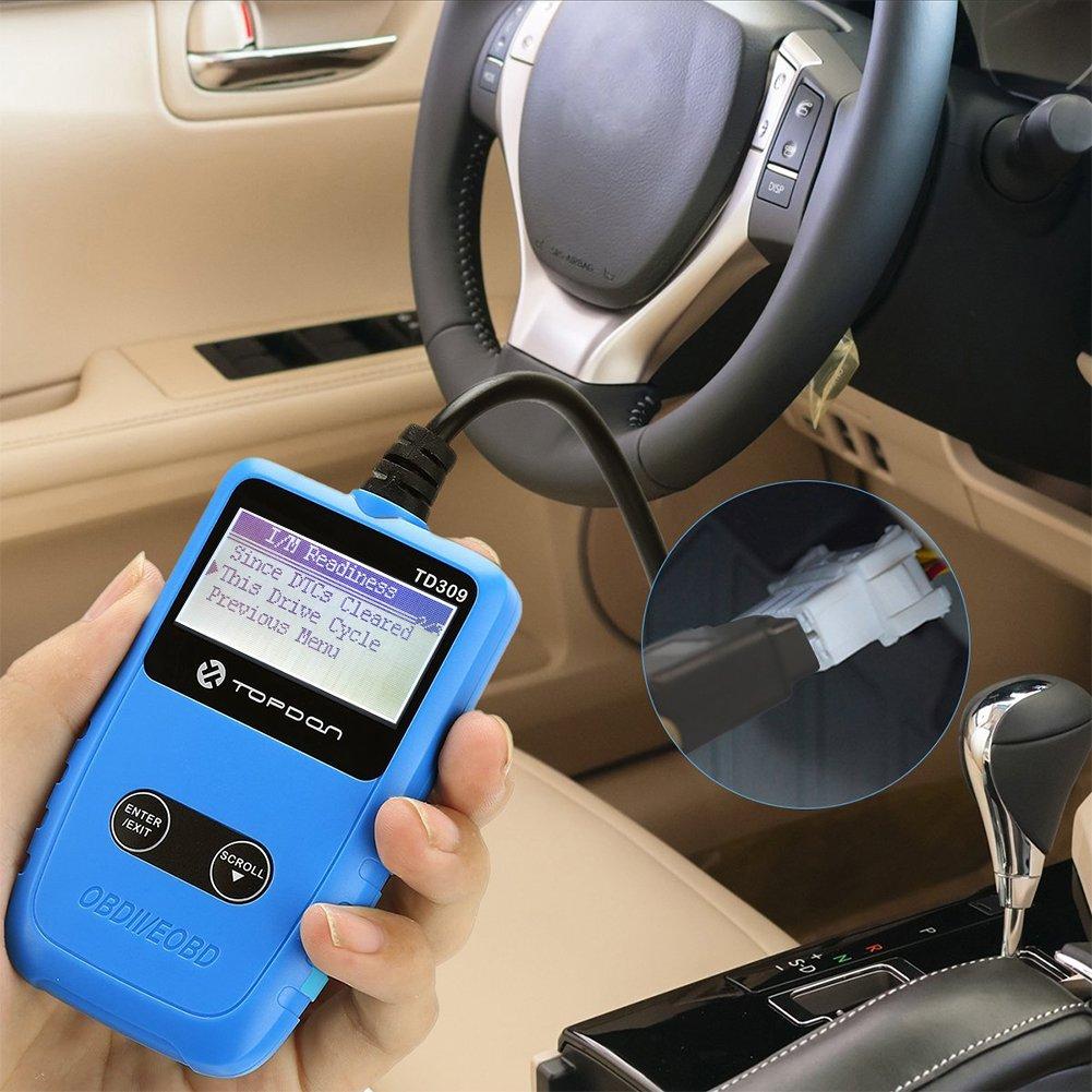TT TOPDON TD309 Car Code Reader (OBD2/EOBD Diagnostic Scan Tool)