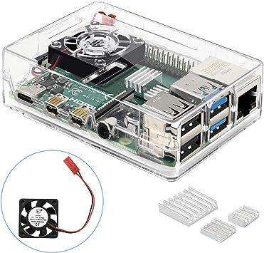 KuGi. Raspberry Pi 4 Caja, Raspberry Pi 4 Model B Caja PC ...