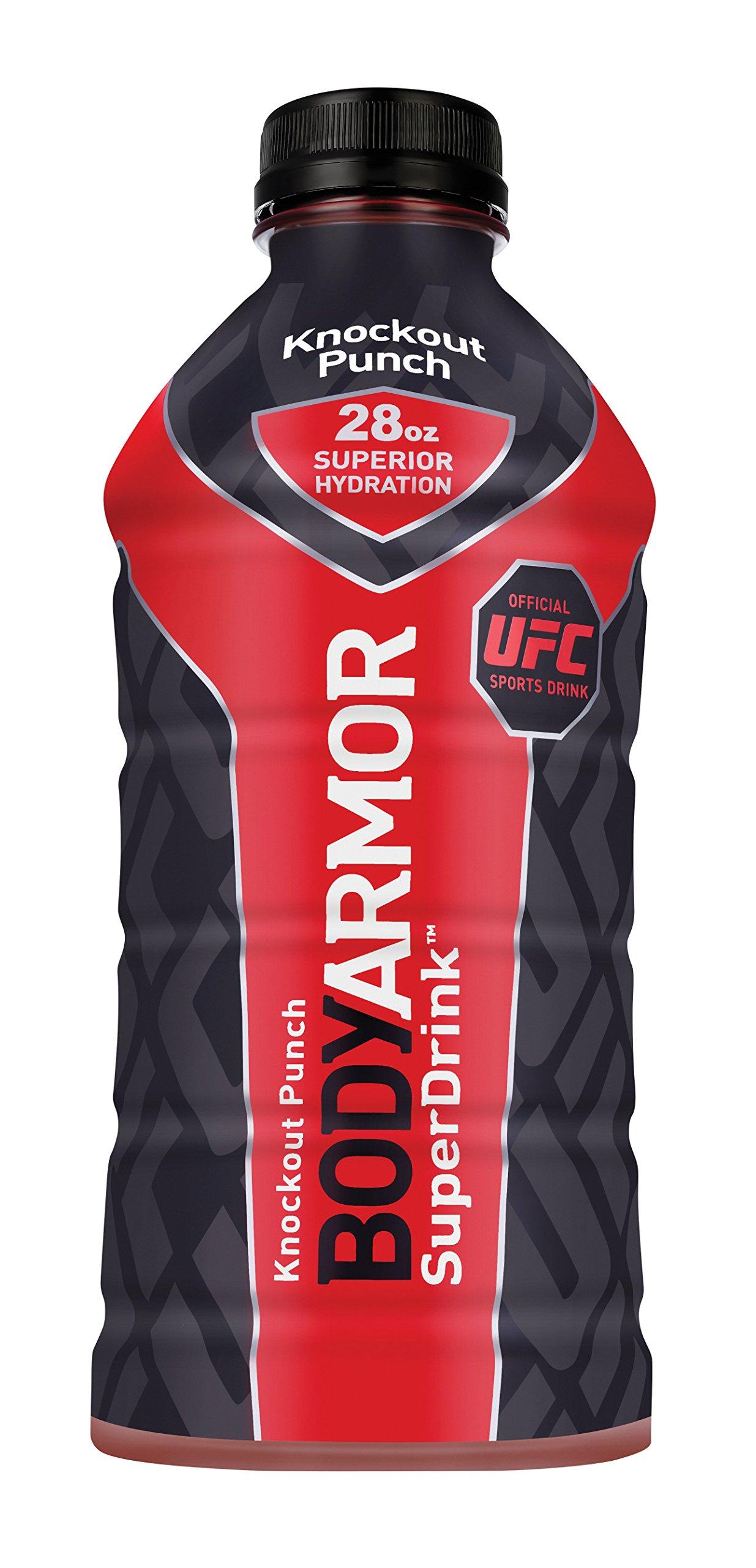 BODYARMOR SuperDrinks Knockout Punch, 28 Ounce (12 Bottles)