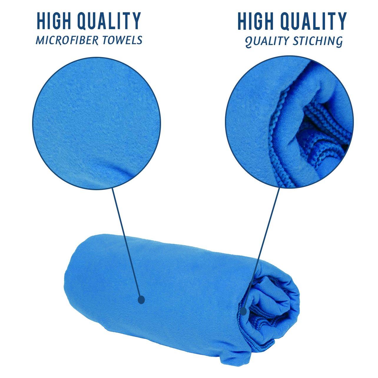 Premium Travel Towel   Microfiber Towel Perfect Sports,Travel Beach Towel Travel towel (blue)