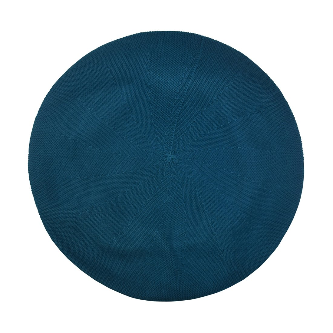 Landana Headscarves Turquoise Beret for Women 100% Cotton Solid - Medium/Large