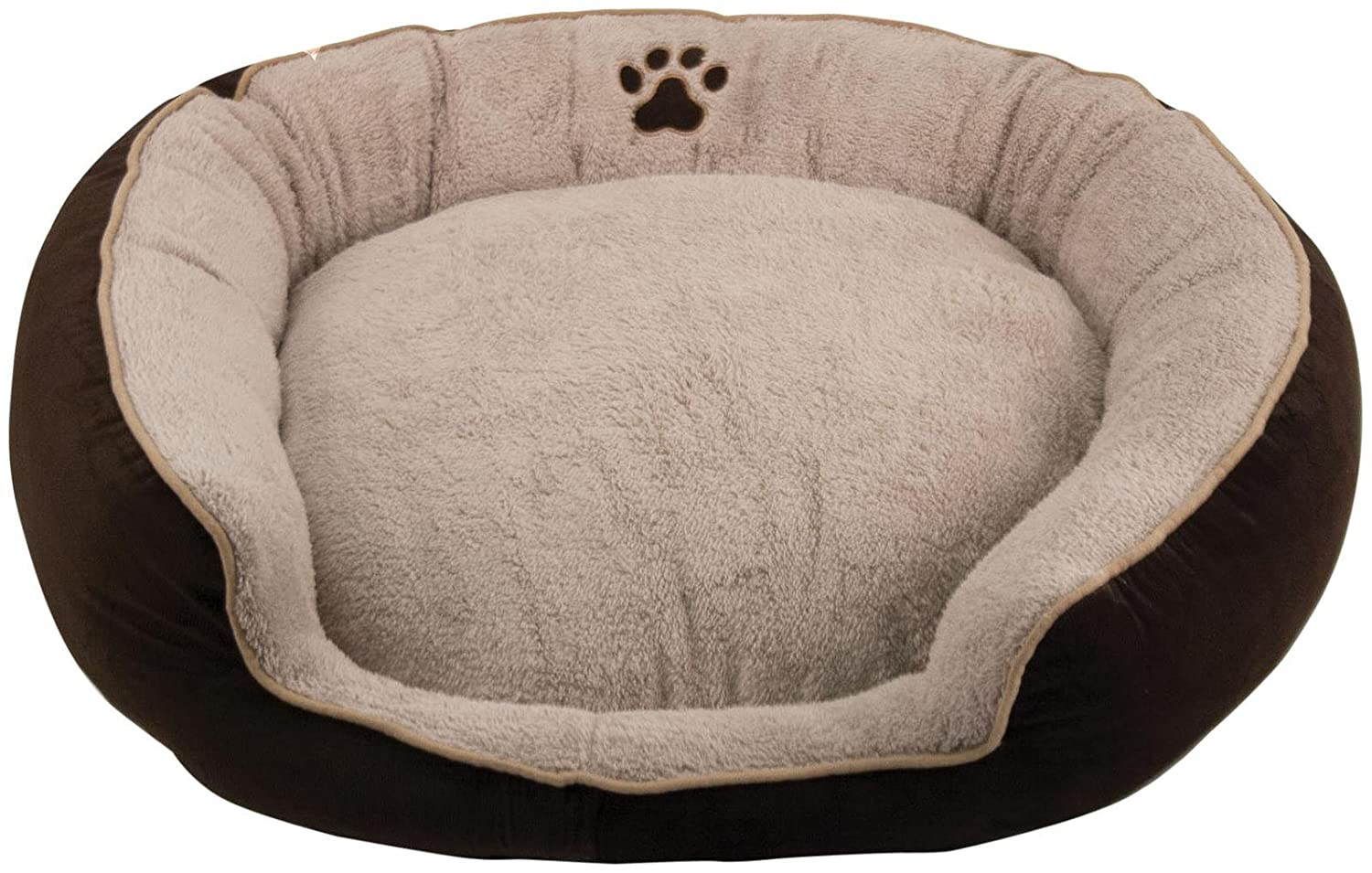 Brinkmann Pet Pinwale Cord Stepover Bolster Bed with Micredec Sleep Surface Brown 36 by Brinkmann Pet
