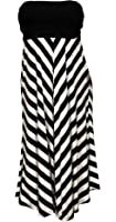 eVogues Women's Striped Dress Skirt