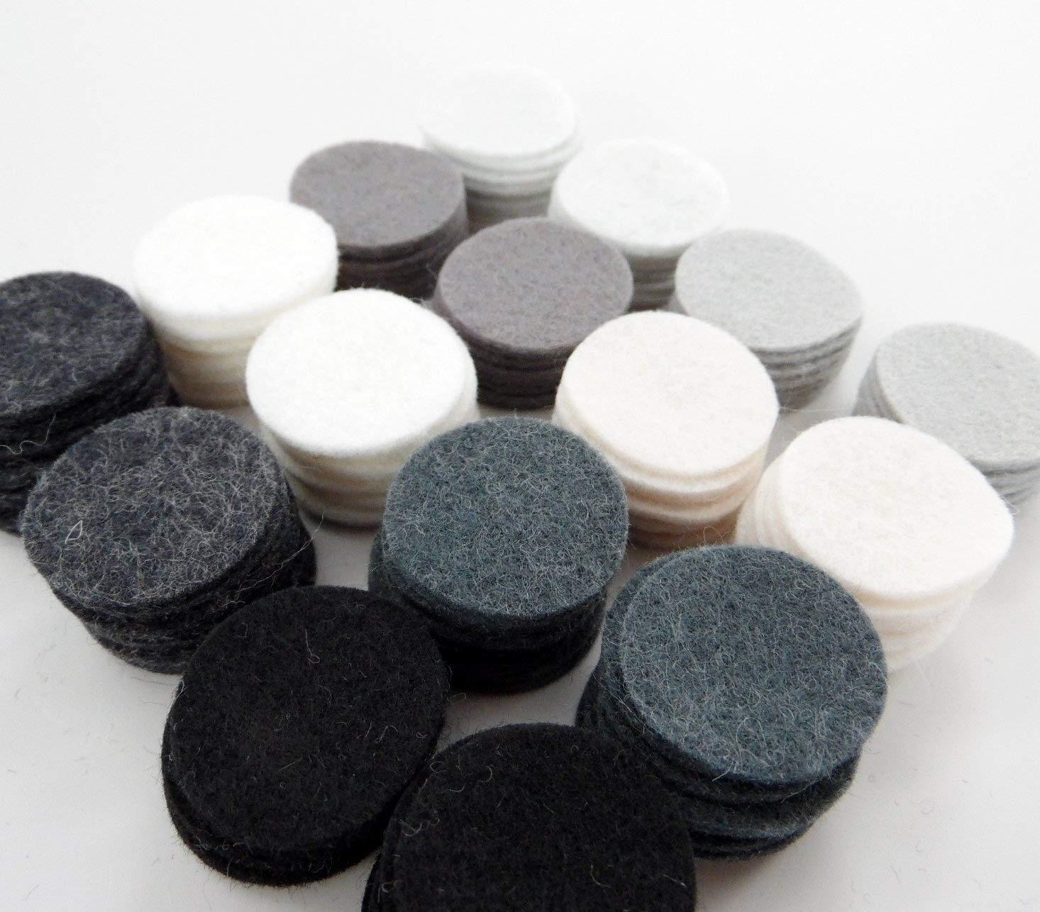 128 Wool Blend Felt 1' Circles - Disco Ball Colors - Made in USA - OTR Felt Over The River Felt