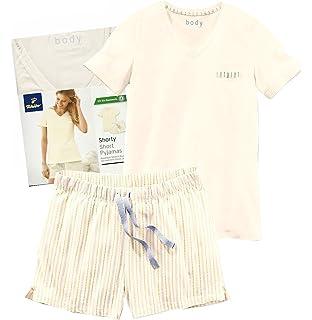 4ba09d7f2d Tchibo TCM Damen Kurz Schlafanzug Shorty Pyjama Biobaumwolle (36/38 ...