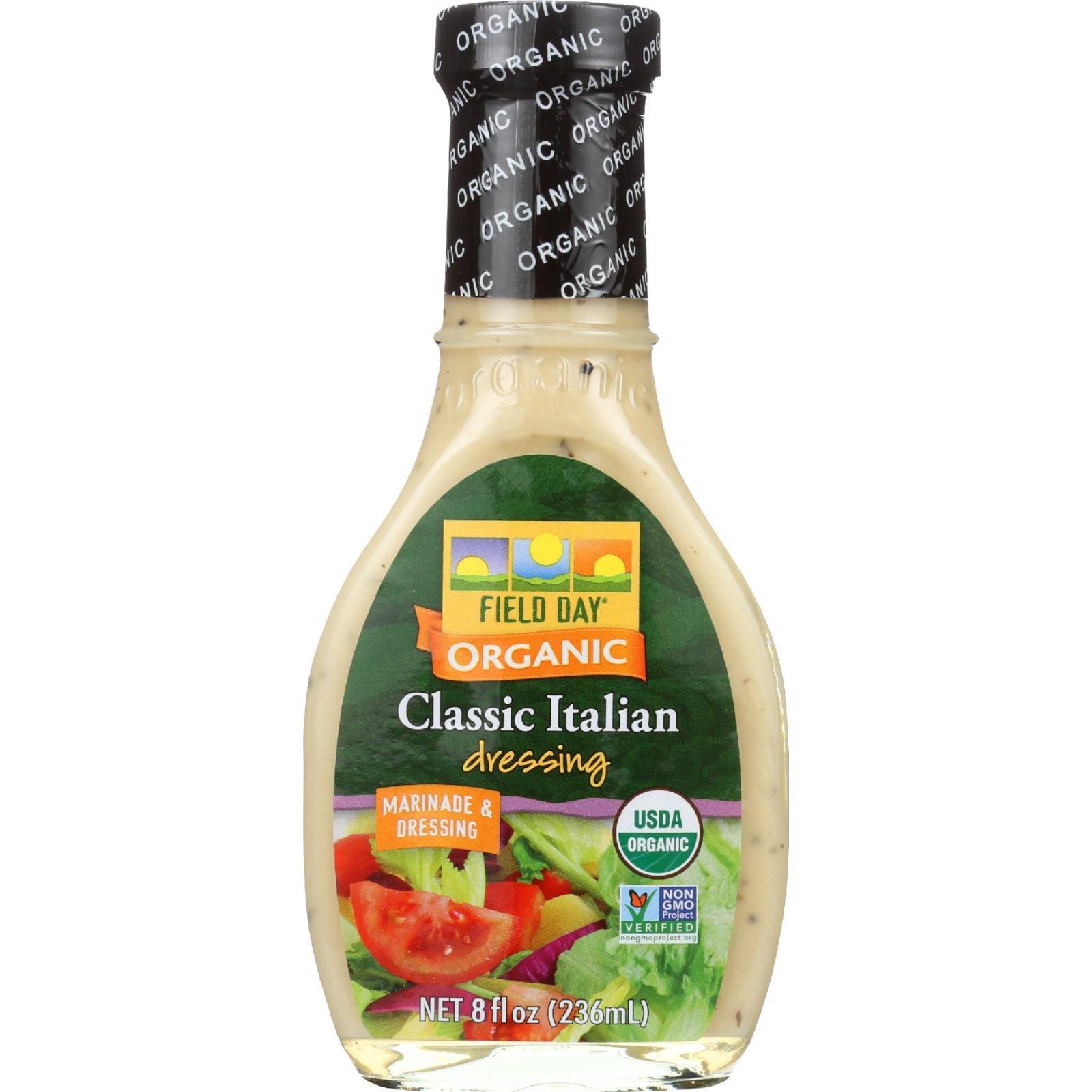 Field Day Dressing Organic Italian, 12 Count