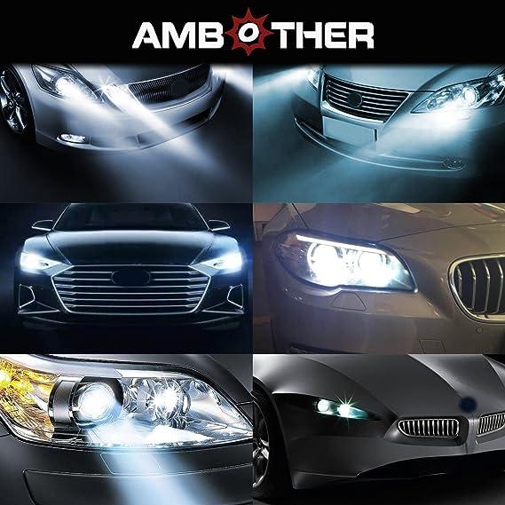 AMBOTHER 2 x LED Auto Faros de Xenón Auto Headlight Angel Eyes luz RGB LED marcador Ángel Ojos 3 W 7000 K Blanco para: Amazon.es: Coche y moto