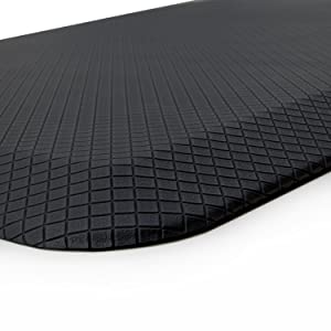 "Buhbo ERGO Comfort Series Anti-Fatigue Floor Mat for Office, Kitchen, Standing Desk, Garage (20""x32"") Black Checker"