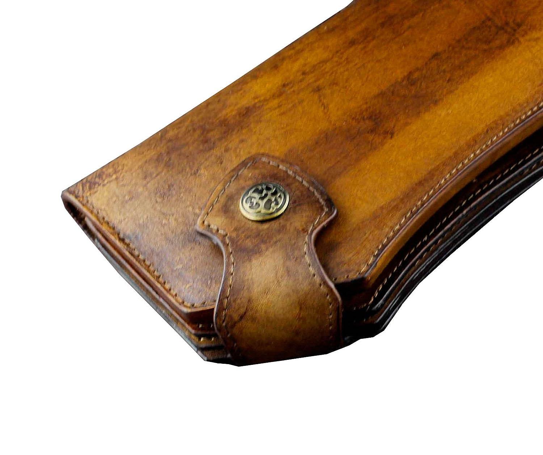 Vintage Heavy Thick Genuine Leather Handmade wallet Unique Biker Purse Brown