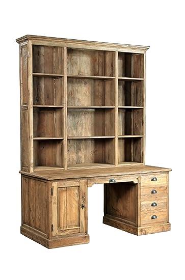 Teak Bibliotheks Kontor Regal Schreibtisch Se40 1 Teakholz Antik