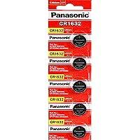 Panasonic CR1632 3V Lithium Coin Battery 5 Pack
