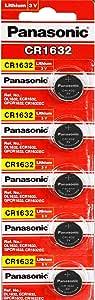 10 Pack - Panasonic Battery - Cr1632 3v 3 Volt Lithium Coin Size Battery