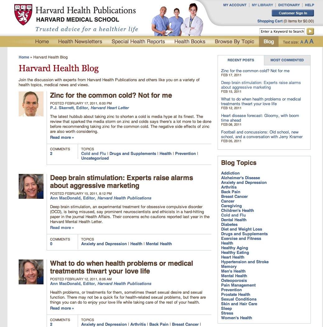 Amazon Com Harvard Health Blog Harvard Health Publications Harvard