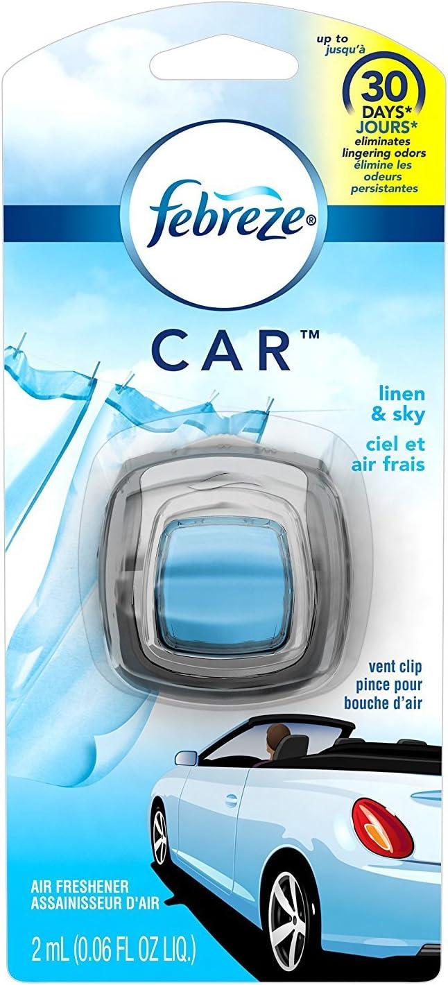 Febreze, Car Vent Clips, Air Freshener and Odor Eliminator Pack