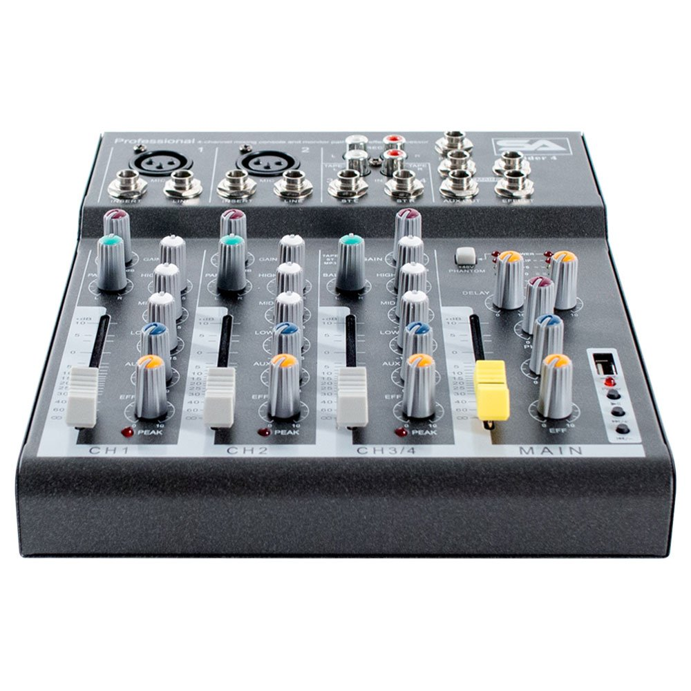 Seismic Audio Slider4 4 Channel Mixer Console With Usb Mixers Projects Circuits 7 Interface Musical Instruments