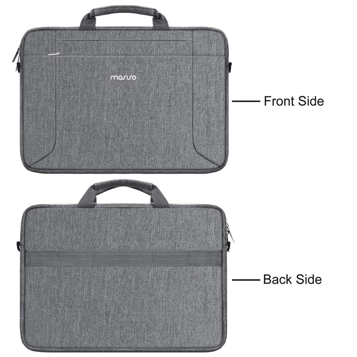 Surface Book,Cartella in Poliestere Multifunzionale,Nero MOSISO Laptop Borsa a Tracolla con Trolley Compatibile con 13-13,3 Pollici Vecchio MacBook Air 13,MacBook PRO Retina 13,Surface Laptop 2017