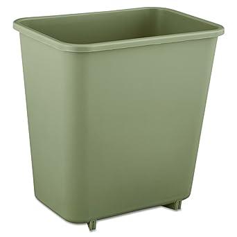rubbermaid commercial deskside trash can 2 gallon beige