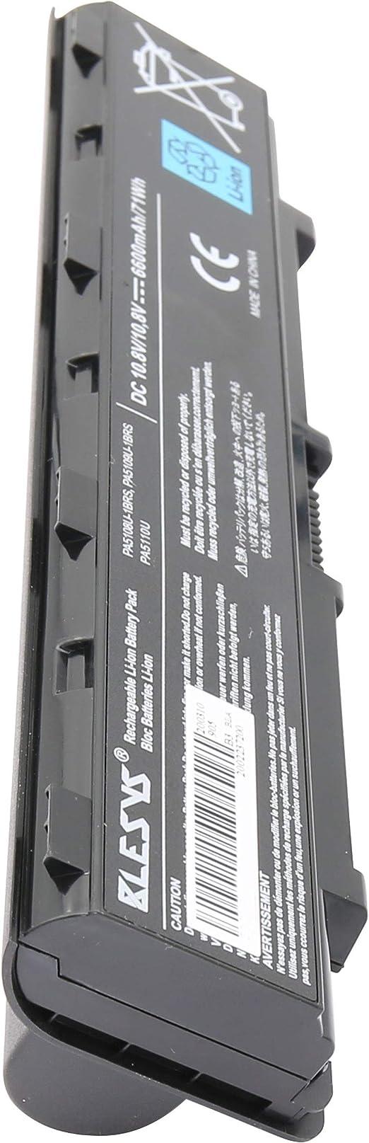BLESYS 6600mAh Extended Battery PA5109U-1BRS PA5108U-1BRS PA5110U-1BRS Compatible with laptop battery Toshiba Satellite C40 C45 C50 C50D C50T C55D C55DT C55T C70 C75DT S70-B-10W Notebook battery