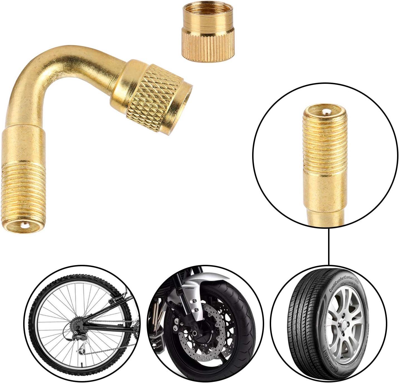 MioYOOW estensione della valvola 4 pz estensori per valvole pneumatici adattatore di estensione del gambo 45 gradi 90 gradi 135 gradi tappo valvola per auto moto moto camion
