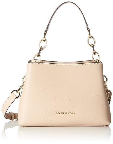 48e7d3a061fe Amazon.com: MICHAEL Michael Kors Portia Small Saffiano Leather Shoulder Bag,  Oyster: Shoes