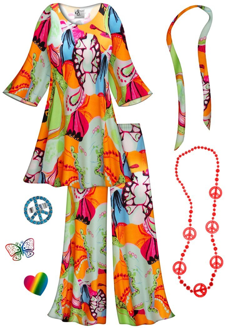 Lava Love 2PC Plus Size Hippie Costume Basic Kit 4x