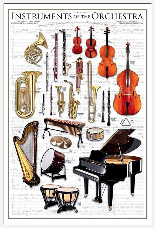Empire Educational - Póster de Instrumentos de Orquesta (Texto en inglés)