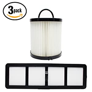 3-Pack Replacement DCF-21 Dust Cup Filter 68931A & EF-6 Filter 69963 for Eureka - Compatible with Eureka AirSpeed AS1000A, Eureka AS1000A, Eureka AS1001A, Eureka AS1051A, Eureka AS1050, Eureka AS1053AX, Eureka AirSpeed Gold AS1001A, Eureka AirSpeed Gold AS1004A, Eureka AS1004A, Eureka AirSpeed Gold AS1001AX