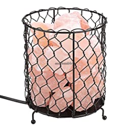 Lamp Basket with Himalayan Salt Crystals, Natural Air Purifying 220-240V CLSV